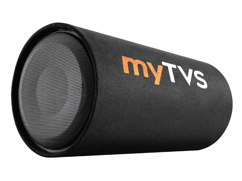 Buy online myTVS TBT-12R Active Bass Tube Sub-woofer with in-built Amplifier.