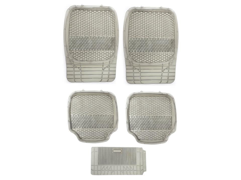 Buy online myTVS Universal PVC 4D Bucket Car Floor Mat Smoke at low price