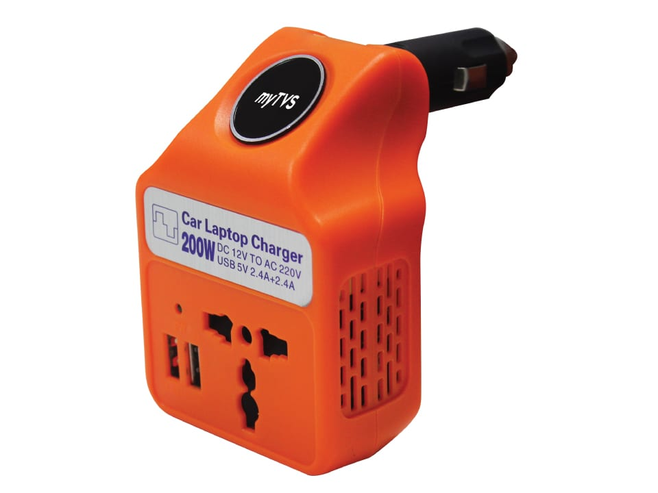 Buy online myTVS TLC-28 Car Laptop and Mobile Charger ? Orange at lowest price.