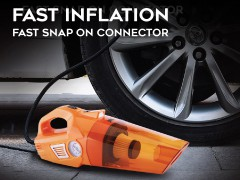 Two-in-one vacuum cleaner and tyre air pump with HEPA filter