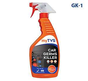 Keep your car?s exteriors and interiors germ-free with myTVS GK-1 Car Germs Killer.