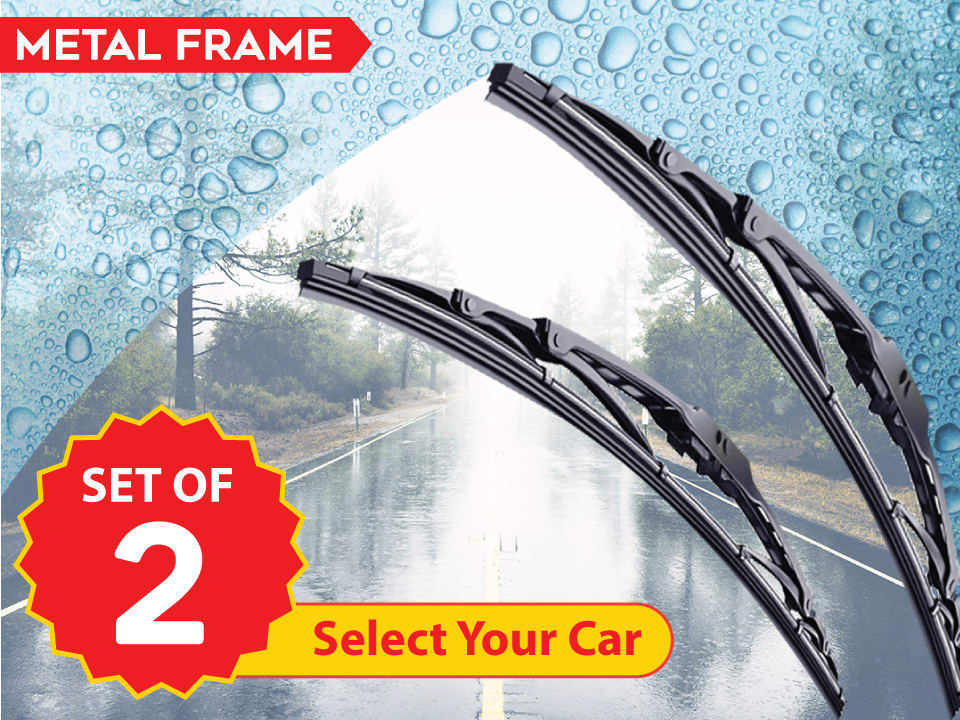 Buy online myTVS crystal/ metal car blades, for crystal-clear wiping of car windshields at lowest price