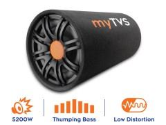 Buy online myTVS TBT 10R - Best Round-Shape Subwoofer Active Bass Tube at Lowest Price.