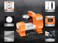 Heavy duty analog car tyre air pump for fast inflation