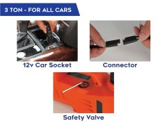 Automatic & easy lifting of your car with myTVS TJ-65, 3 Ton Electric Jack